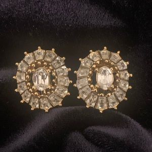 Vintage Dior Crystal Earrings